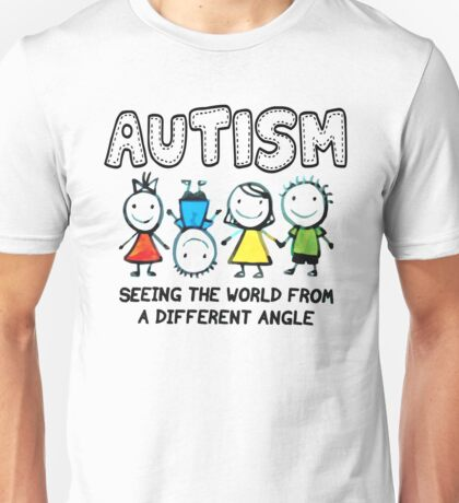 Autism Seeing The World From A Differently Angel T Shirt Unisex T-Shirt