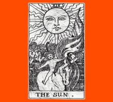 The Sun Tarot Card - Major Arcana - fortune telling - occult Kids Clothes