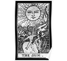 The Sun Tarot Card - Major Arcana - fortune telling - occult Poster