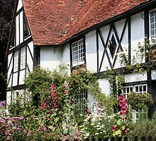english cottage with flowers by odile
