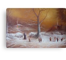 The Shire First Snowfall Canvas Print