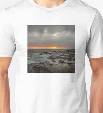 Sunset on the rocks Unisex T-Shirt