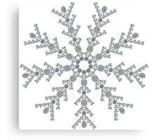 Ice Snowflake Canvas Print