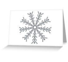 Ice Snowflake Greeting Card
