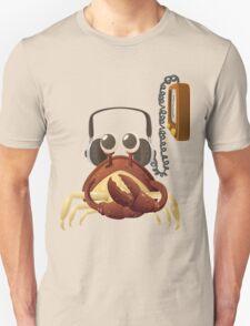 Glitch NPC Crab Listening to Music Block T-Shirt