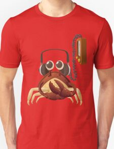 Glitch NPC Crab Listening to Music Block T-Shirt