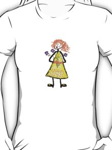 Girl With Flowers T-Shirt