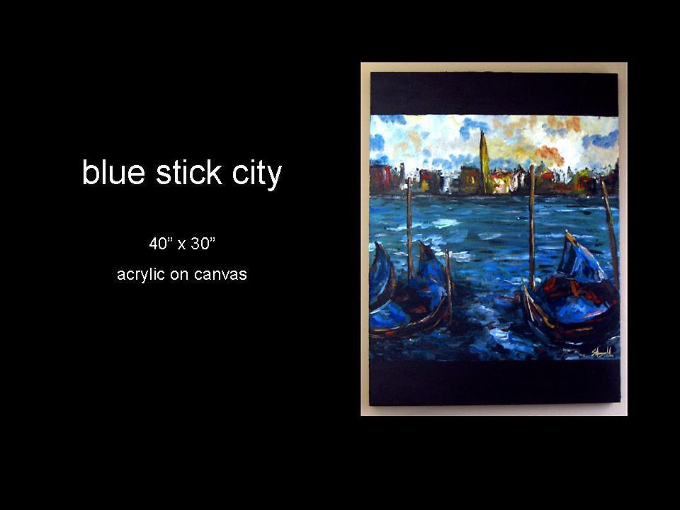 blue stick city by stephaniehoogveld