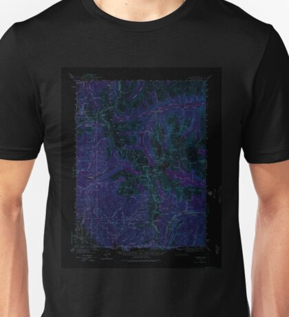 USGS TOPO Map Colorado CO Garfield 402793 1940 62500 Inverted Unisex T-Shirt