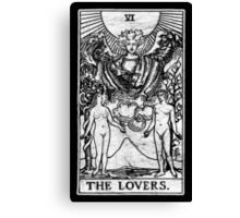 The Lovers Tarot Card - Major Arcana - fortune telling - occult Canvas Print