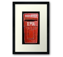 Red Post Office Box, Antigua, Caribean Framed Print
