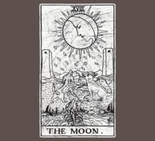 The Moon Tarot Card - Major Arcana - fortune telling - occult Kids Clothes