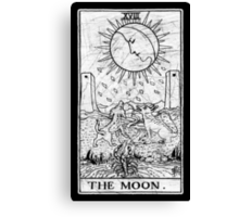 The Moon Tarot Card - Major Arcana - fortune telling - occult Canvas Print