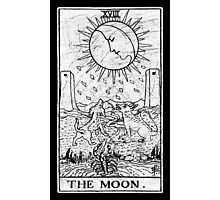 The Moon Tarot Card - Major Arcana - fortune telling - occult Photographic Print