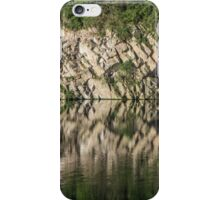 Cliff Reflections in Water - Waterscape iPhone Case/Skin