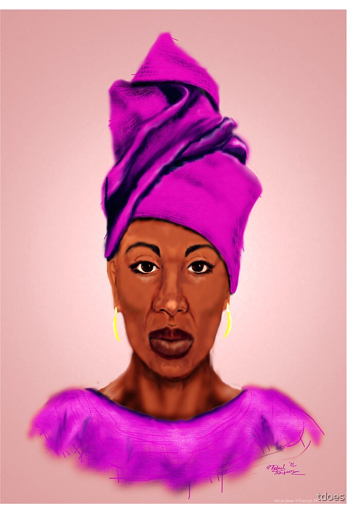 African Queen greeting card by tdoes