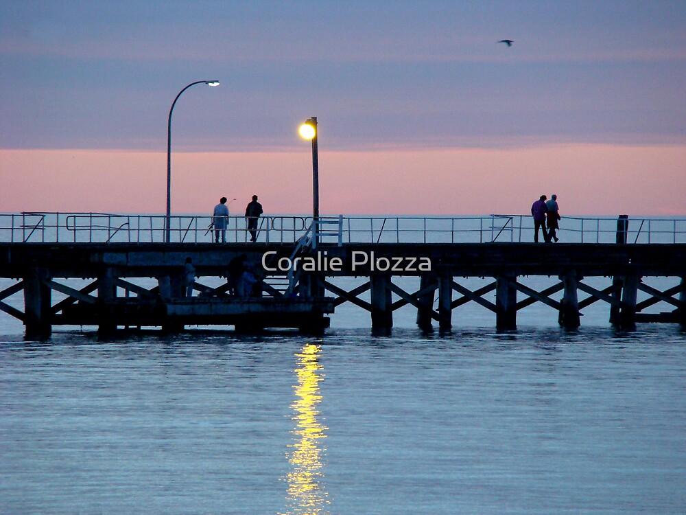 Sunset Relaxing ... Busselton Jetty W.A. by Coralie Plozza