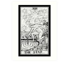 The Star Tarot Card - Major Arcana - fortune telling - occult Art Print