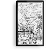 The Star Tarot Card - Major Arcana - fortune telling - occult Metal Print
