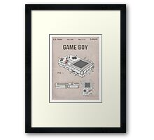 Gameboy Patent Framed Print