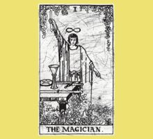 The Magician Tarot Card - Major Arcana - fortune telling - occult Kids Clothes