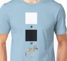 black + white Unisex T-Shirt