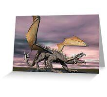 Old Gray Dragon Greeting Card
