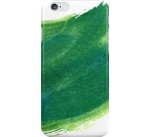 Green Painted Paper iPhone Case/Skin