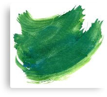 Green Painted Paper Canvas Print