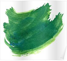 Green Painted Paper Poster