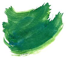 Green Painted Paper Photographic Print