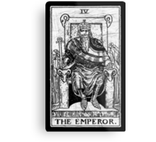 The Emperor Tarot Card - Major Arcana - fortune telling - occult Metal Print