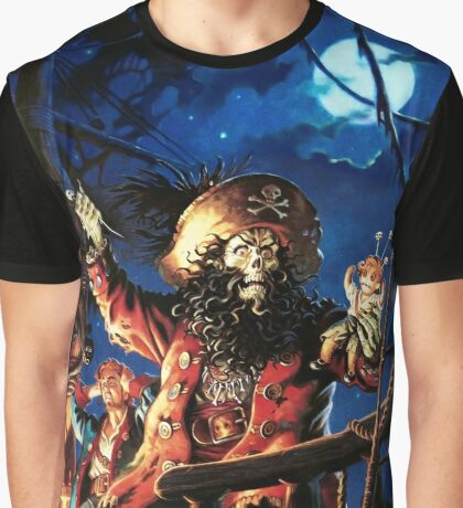 Monkey Island 2 LeChuck's Revenge (High Contrast) Graphic T-Shirt