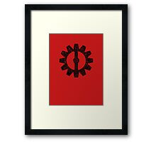 Mechanist Flag Framed Print