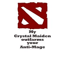 My Crystal Maiden outfarms your Anti-Mage Photographic Print