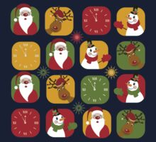 Christmas Countdown Pattern One Piece - Short Sleeve