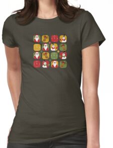 Christmas Countdown Pattern Womens Fitted T-Shirt