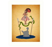 Jungle Cruise vs. Haunted Mansion Art Print