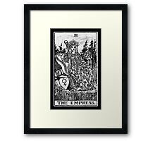 The Empress Tarot Card - Major Arcana - fortune telling - occult Framed Print