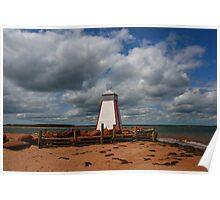 Lighthouse - Beach Point Poster