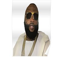 Low Poly Rick Ross Poster
