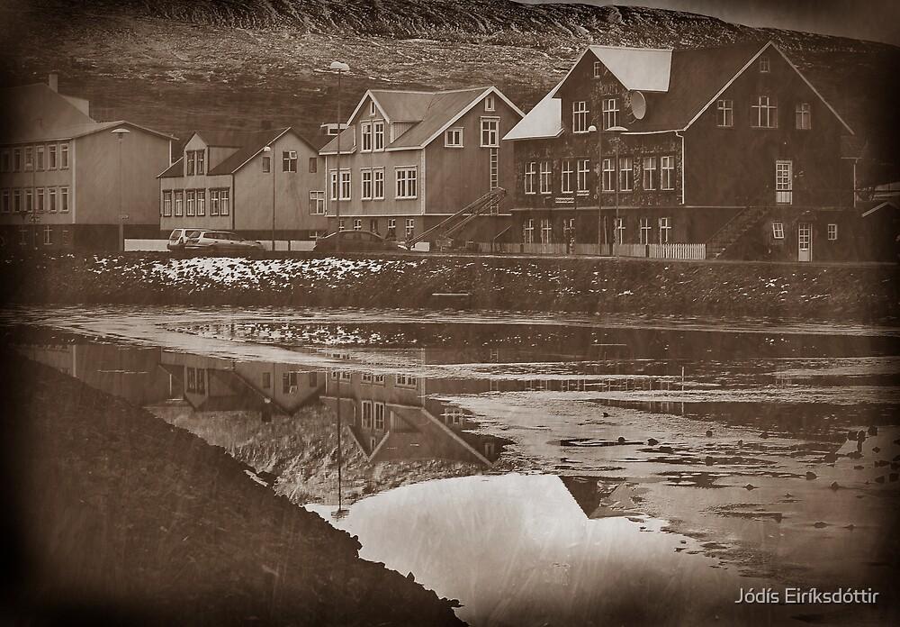 The old part of town by Jódís Eiríksdóttir