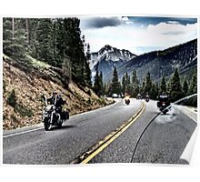 Million Dollar Highway on a Harley Poster