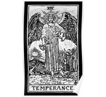 Temperance Tarot Card - Major Arcana - fortune telling - occult Poster