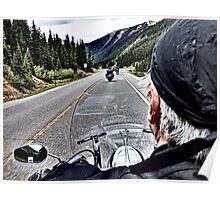 View from a Road King on Million Dollar Highway Poster