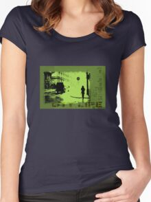 City Life Women's Fitted Scoop T-Shirt