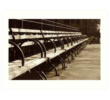 Peaceful Benches Art Print