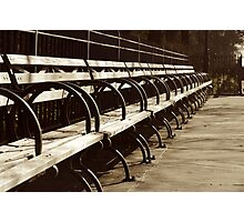 Peaceful Benches Photographic Print