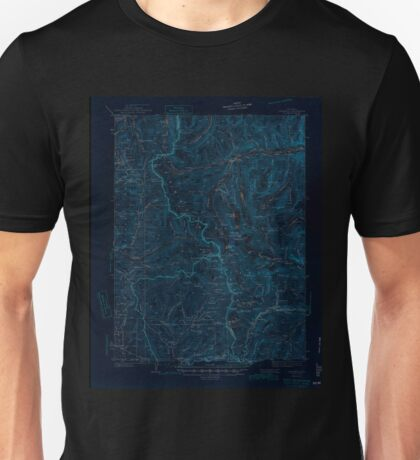 USGS TOPO Map Colorado CO Garfield 402799 1945 62500 Inverted Unisex T-Shirt