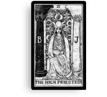 The High Priestess Tarot Card - Major Arcana - fortune telling - occult Canvas Print